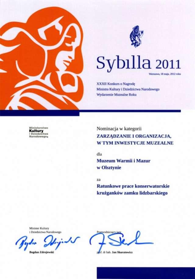 Wyniki muzealnej nagrody Sybilla 2011 - full image